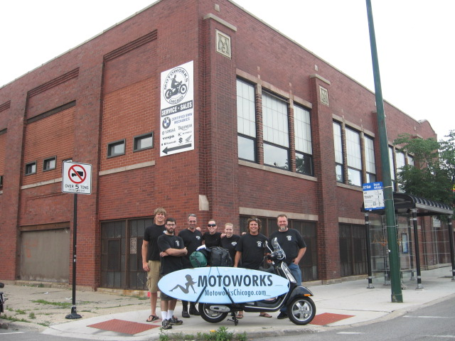 Motoworks Sponsored Surf Vespa