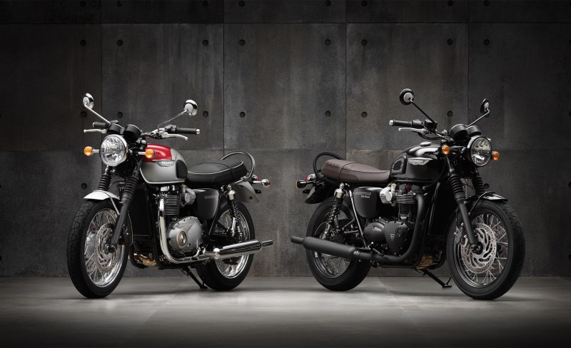 2016 Triumph Bonneville T120 and T120 Black