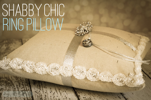 Shabby Chic Ring Pillow - David Tutera Bridal - http://www.behindthestudio.com