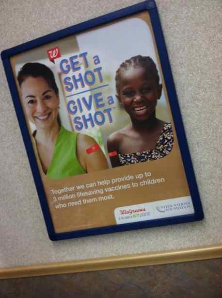 Help a needy child - Get a shot, Give a shot with Walgreens #GiveAShot  #Cbias #shop