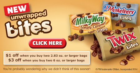 $1.00 off when you buy two 2.83 oz. or larger bags - $3.00 off when you buy two 6 oz. or larger bags