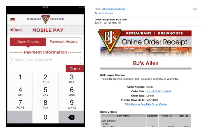 Using BJ's mobile app - #DineInOrderAhead #PMedia #ad