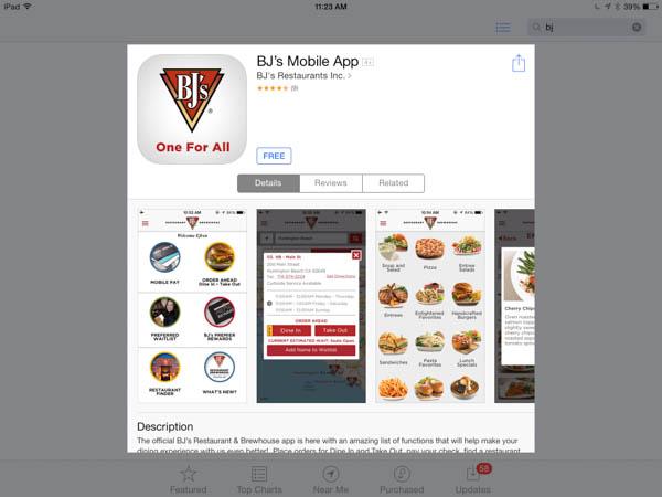 Using BJ's mobile app - #DineInOrderAhead #PMedia #ad
