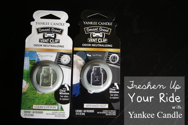 Freshening up my new car with Yankee Candle #LoveAmericanHome #AD