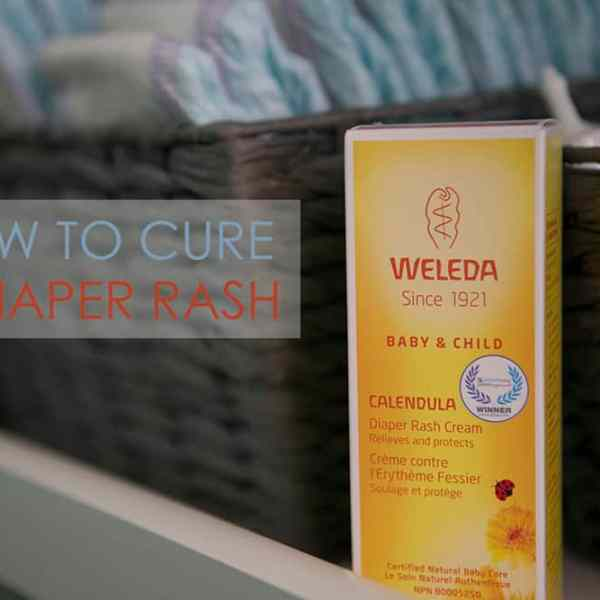How to cure a bad diaper rash and ease your baby's pain with Weleda Diaper Rash Cream - #WeledaBabyLove #IC #AD