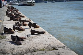 Shoes On The Danube- a monument to the Jewish people who were shot and killed on the river's edge