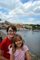 The kiddos on Charles Bridge