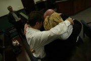 Evan Zimmerman with family after prosecutors dismissed charges