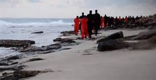Coptic Christians Being Led to Execution_600