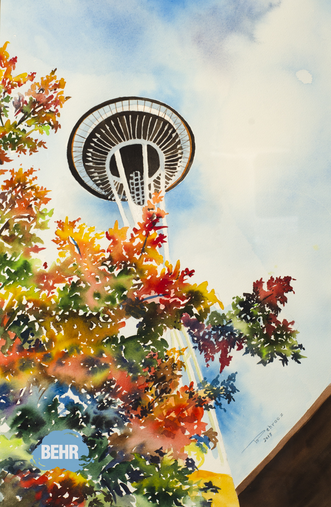 BEHR Gallery Art summer seattle wa USA watercolor by behrooz bahadori_001