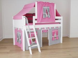 low loft pink grey top tent under bed