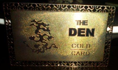 the den gold card