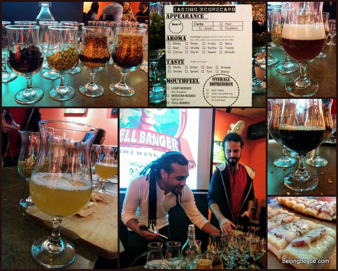 Bell Banger beer tasting with Chris DaBreo and Andres Quiro at Cafe de la Poste Beijing China