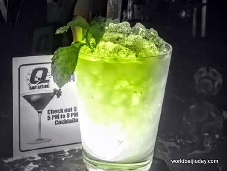 q bar beijing world baijiu day cocktails