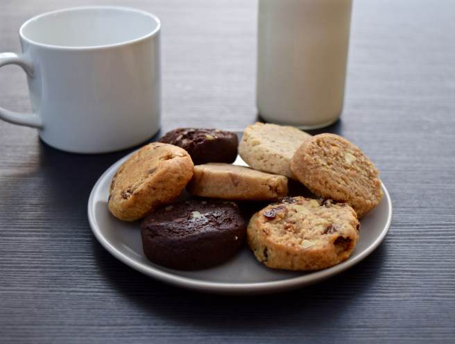 Cashew milk and WB Kitchen Ona cookies