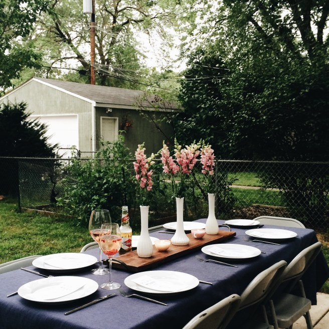 Backyard Garden Party Tablescape