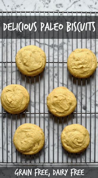Paleo Biscuits Recipe (gluten free, grain free, dairy free, lectin free, plant paradox) - These paleo biscuits are unbelievably delicious. They're savory with a crusty outside and a soft center—just what you want in a biscuit!