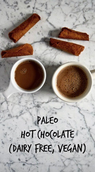 Paleo Hot Chocolate - This paleo hot chocolate takes just 3 ingredients and 5 minutes to make and it's much tastier (and better for you!) than instant hot cocoa. [gluten free, dairy free, vegan]