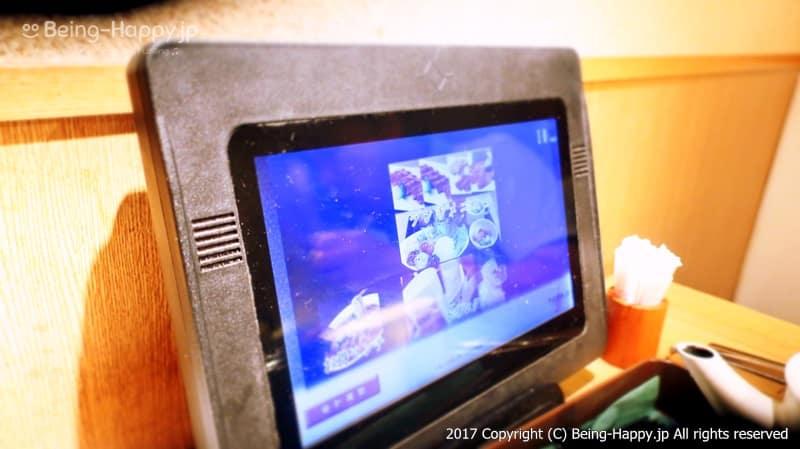 """注文はタブレット端末から@焼肉トラジの新業態店 """"葉菜""""(TORAJI HANA) photo by 茶子(ちゃこ)"""