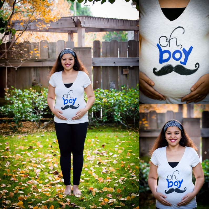 Paint Maternity T-shirts At Home, DIY painting pregnancy T-shirts at home