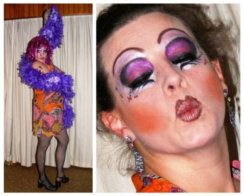 moi, done up as a drag queen - took me almost 2 hours to do