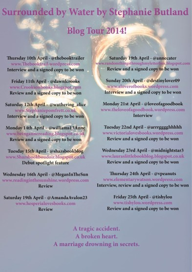Surrounded by Water blog tour poster