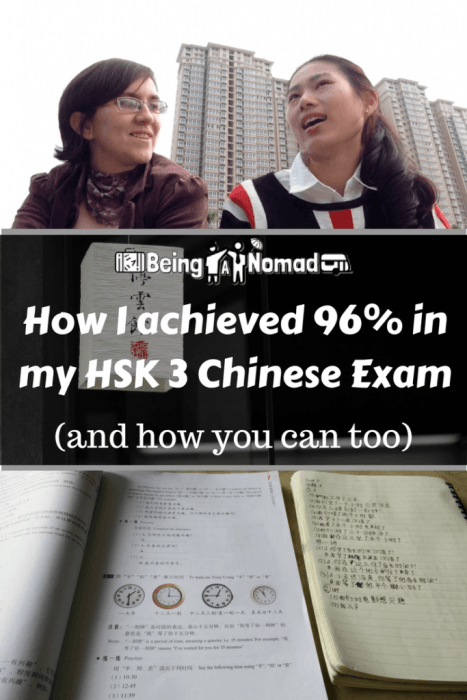 How I achieved 96% in my HSK 3 Exam Cover Image