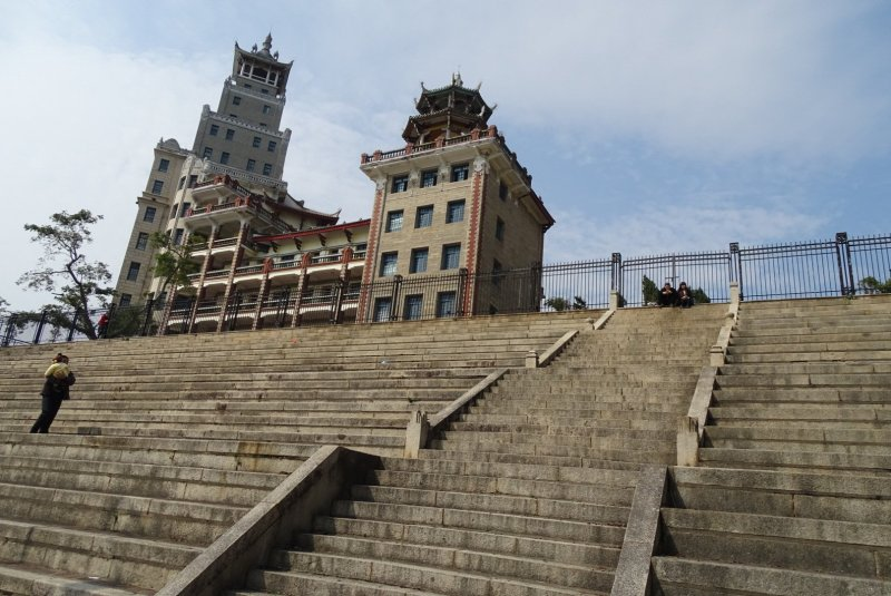 Steps leading up to Jimei High School