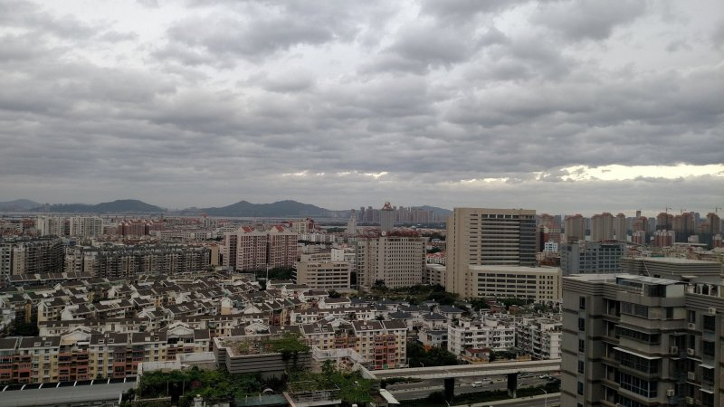 Clouds rolling over Jimei peninsula as the typhoon approaches