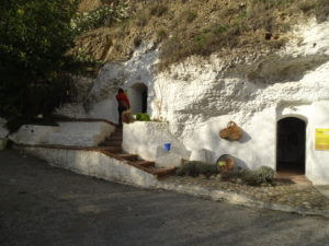 Exterior shot of two dwellings of the Sacromonte Caves Museum