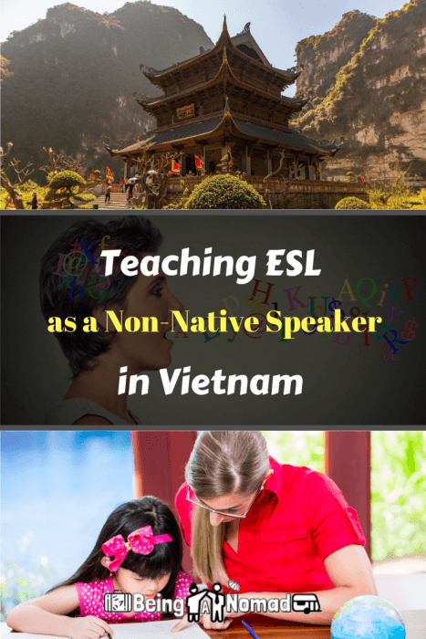 This post offers advice about finding a legal job as a non-native speaker in Vietnam. Don't listen to the naysayers. It is possible. Here I offer advice on how I found a non-native ESL job and how you can too. #esl #vietnam #workvietnam #livevietnam #teachenglish