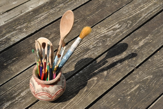 Create - A pot full of paint brushes