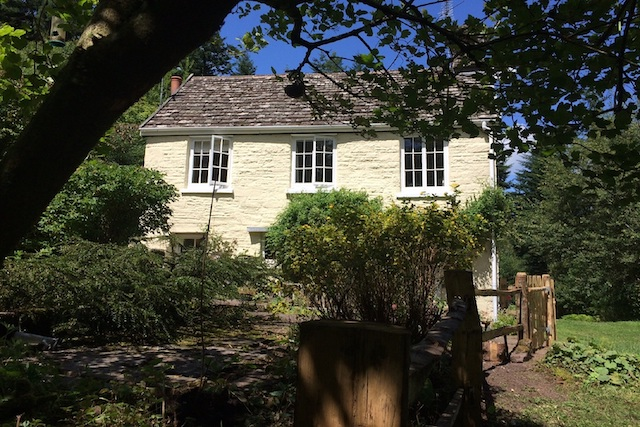 Graig Ddu, the cottage in the forest, Llanthony, Black Mountains