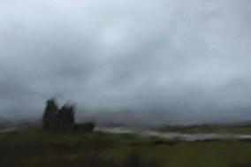 Ballycarbery through the rain
