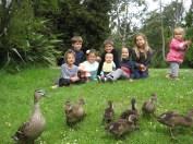 Hagley Park feeding the ducks - 2012