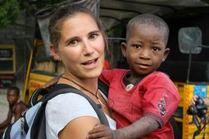 loving fearlessly: Gina and A. 1st day in Haiti
