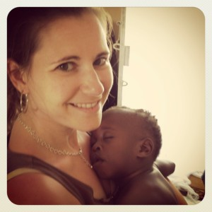 mothering from afar, GIna and L' in Haiti