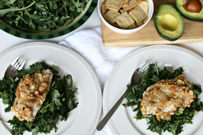 BeingBrigid Garlic Crusted Chicken-N-Kale Recipe