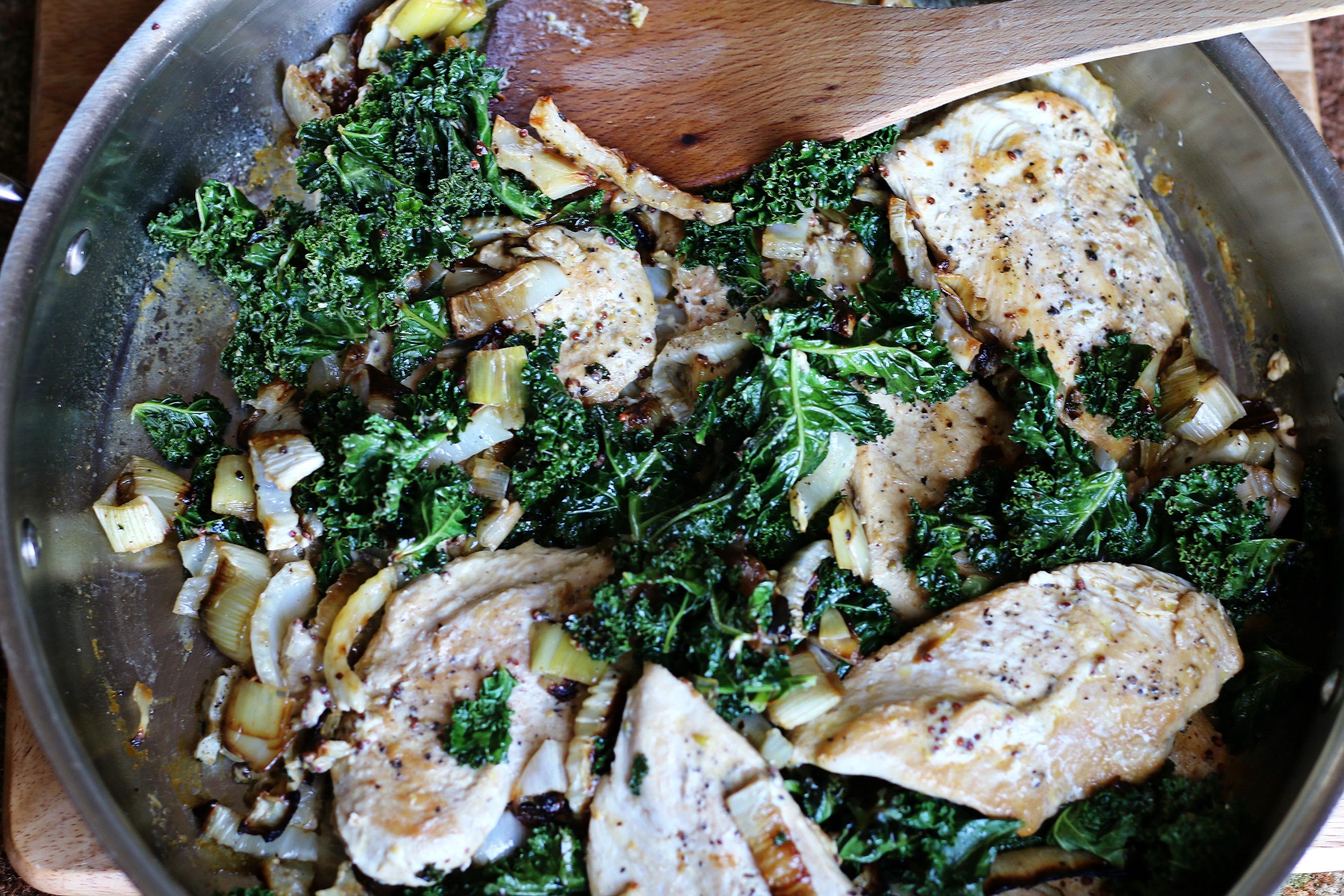 Creamy Kale Fennel Chicken