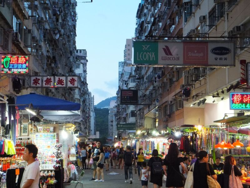 Street Market in Hong Kong