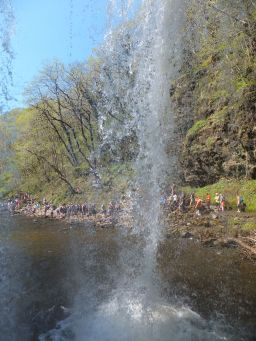 View from behind Sgwd yr Eira