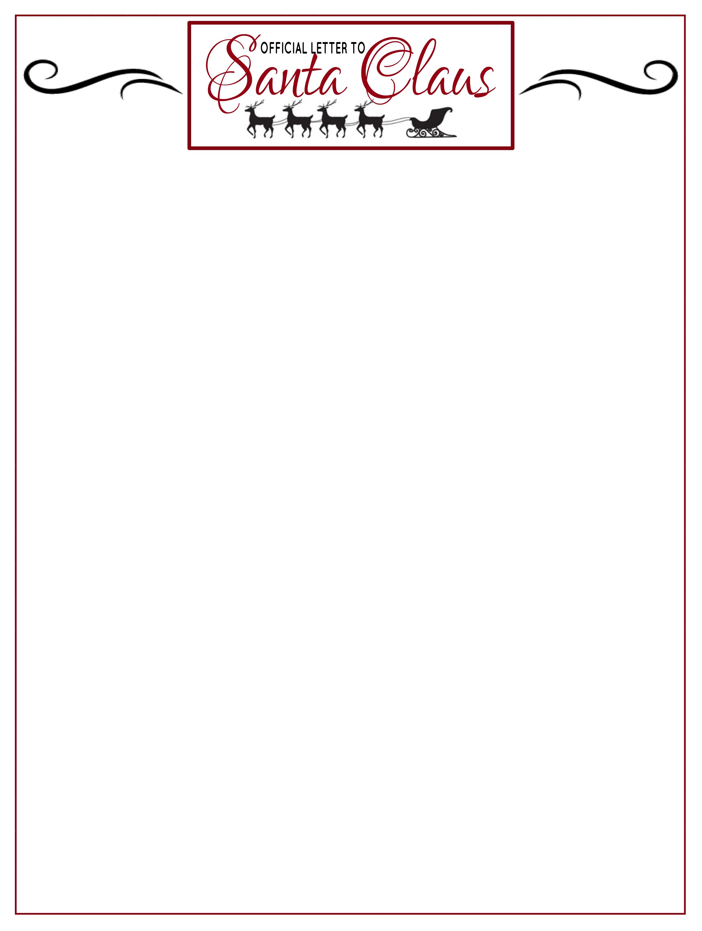 Letter-To-Santa Santa Letterhead Templates on monogram personal, for word free, cleaning company, find free, graphic design,