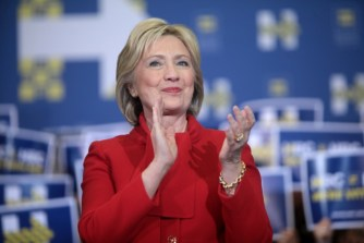 hillary clapping
