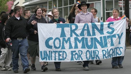 May 6, 2006 - Participants in the 25th annual Lesbian, Gay, Bisexual and Transgender Pride March proceed through downtown Northampton Saturday afternoon.