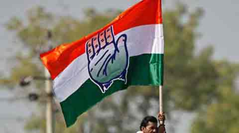 Indian Congress Party flag. Source: The Indian Express.