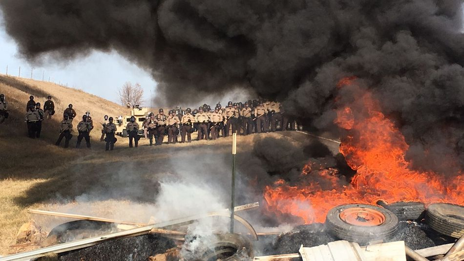 police-protest-fire