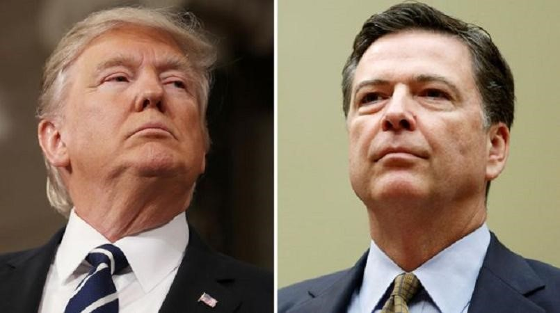 Trump legal team to file complaint over Comey memos, source says