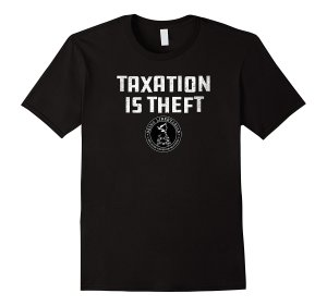 Taxation is Theft Alternate Logo T-Shirt Image