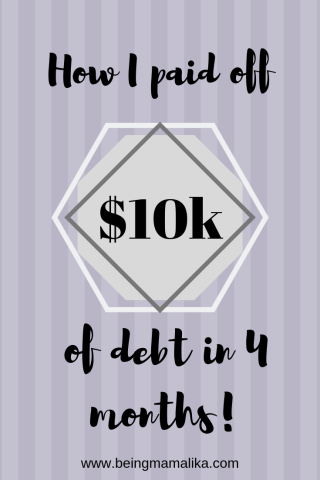 Pin By Kamlesh On Ka In 2019: How I Paid Off Over $10k In Debt In Four Months