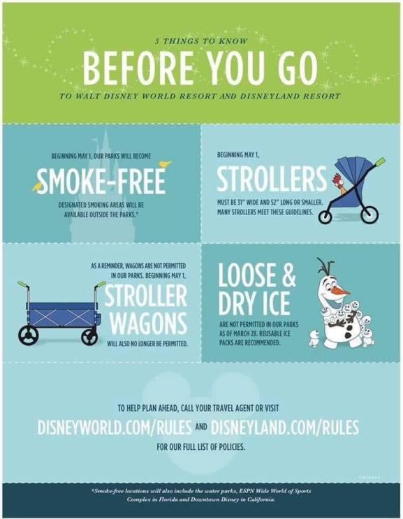 Disney Stroller Rules 2019